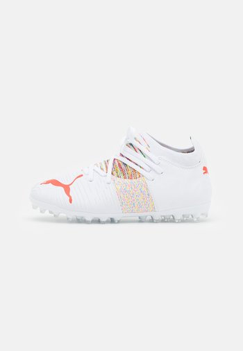 FUTURE Z 3.1 MG JR UNISEX - Moulded stud football boots - white/red blast