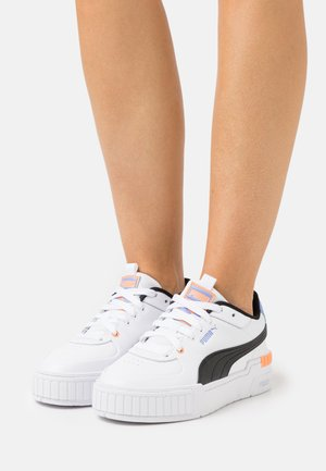 CALI SPORT - Sneakers laag - white/soft fluo orange