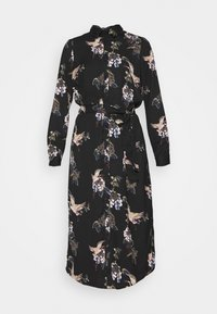 VMCRANE DRESS - Shirt dress - black/small crane
