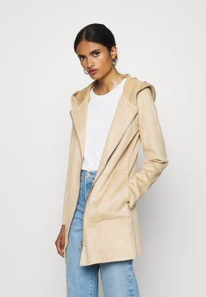 ONLHANNAH HOODED JACKET - Short coat - light brown