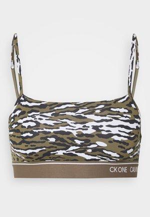 CK ONE MICRO UNLINED BRALETTE - Topp - khaki
