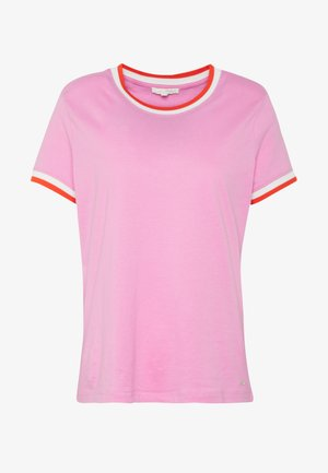 TEE WITH CONTRAST NECK - Triko spotiskem - wild orchid pink purpl