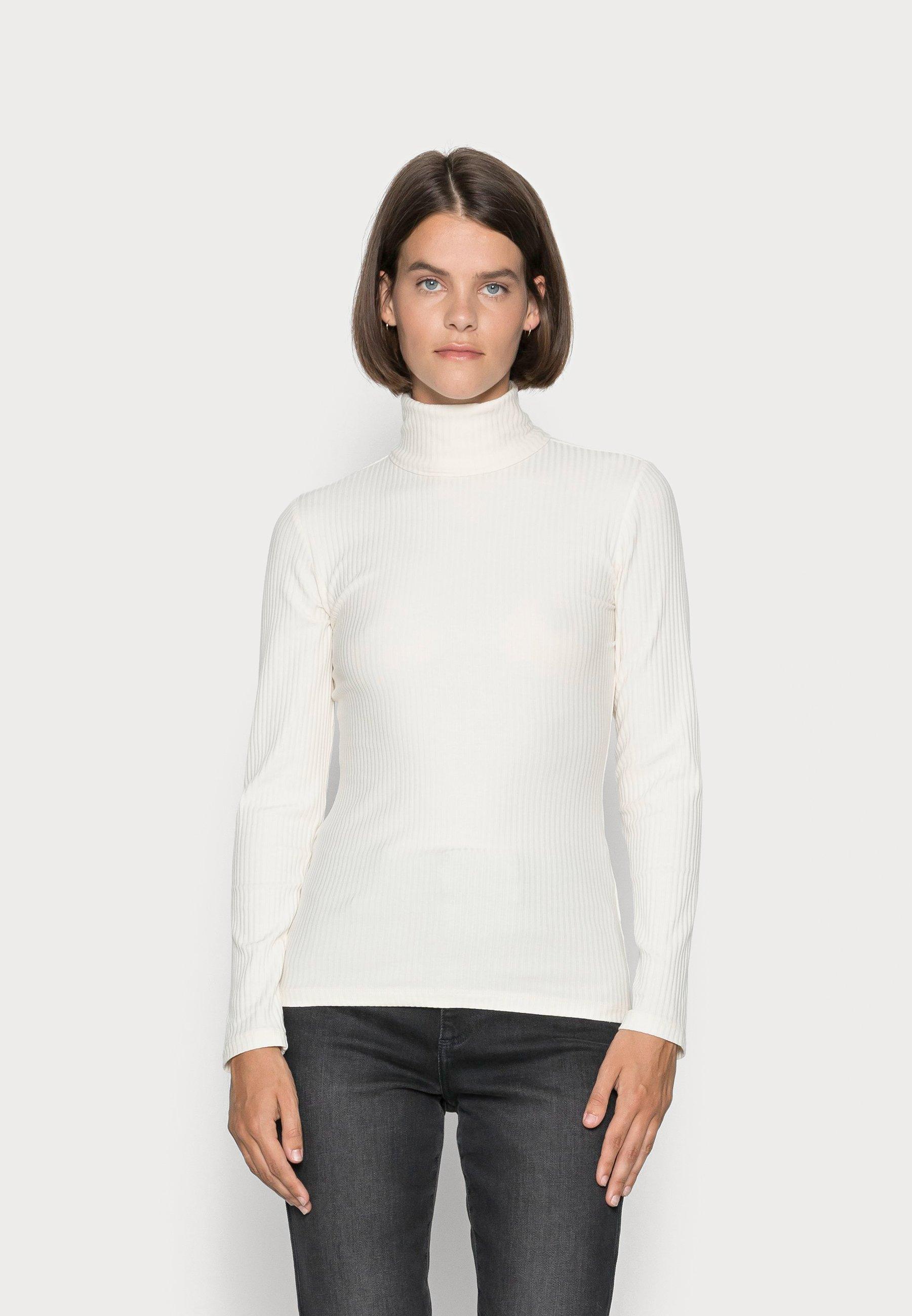 Women LONG SLEEVE TURTLE NECK SLIM FIT - Long sleeved top
