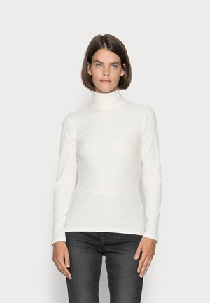 LONG SLEEVE TURTLE NECK SLIM FIT - Long sleeved top - chalky sand