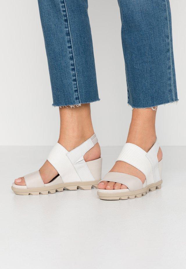 JOANIE SLINGBACK - Wedge sandals - sea salt