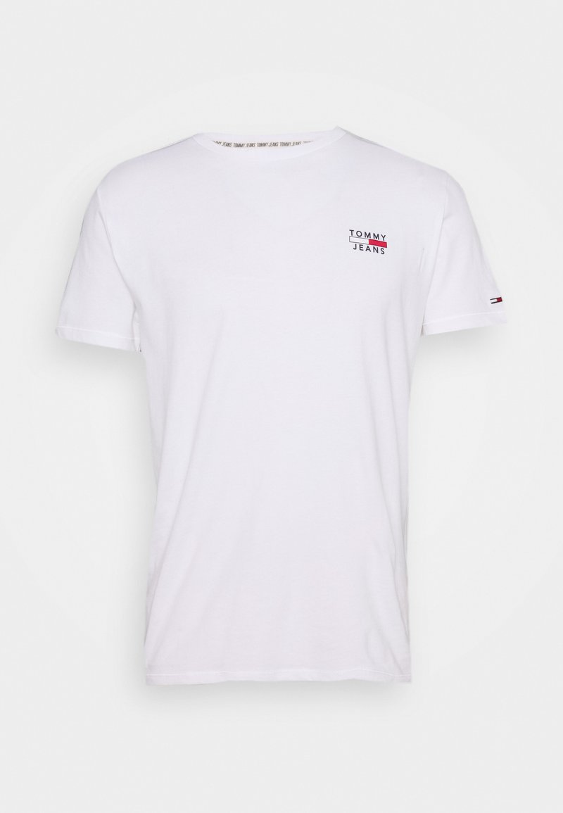 Tommy Jeans - CHEST LOGO TEE - Print T-shirt - white