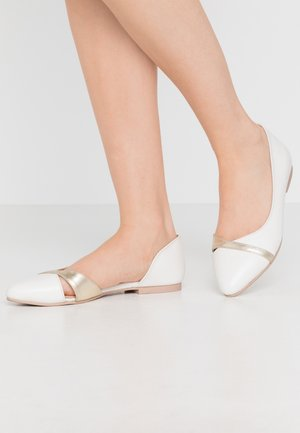 LEATHER  - Ballet pumps - white