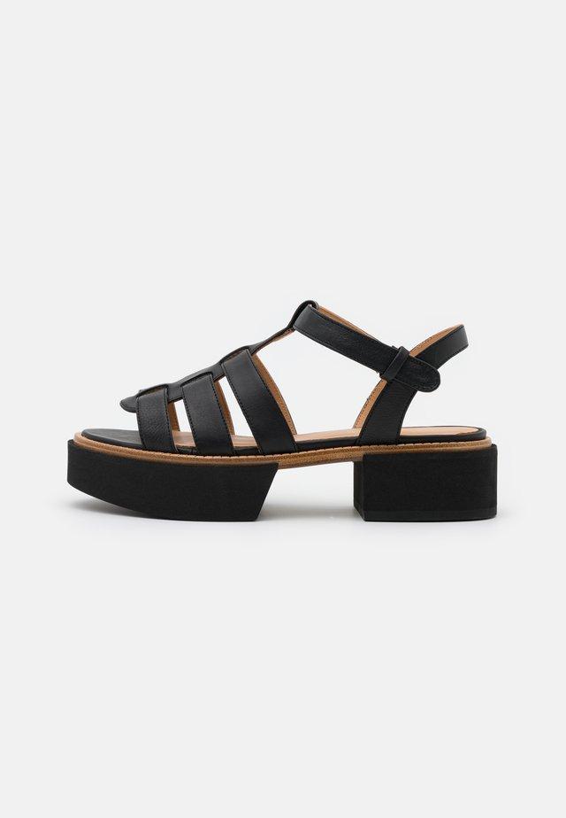 IVAI - Sandales à plateforme - black