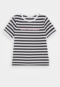 Marimekko - LEUTO TASARAITA - T-shirt imprimé - black/white - 0