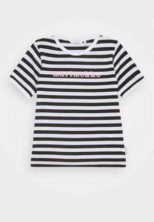 LEUTO TASARAITA - Print T-shirt - black/white
