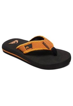 MONKEY ABYSS YT  - T-bar sandals - black/orange/orange