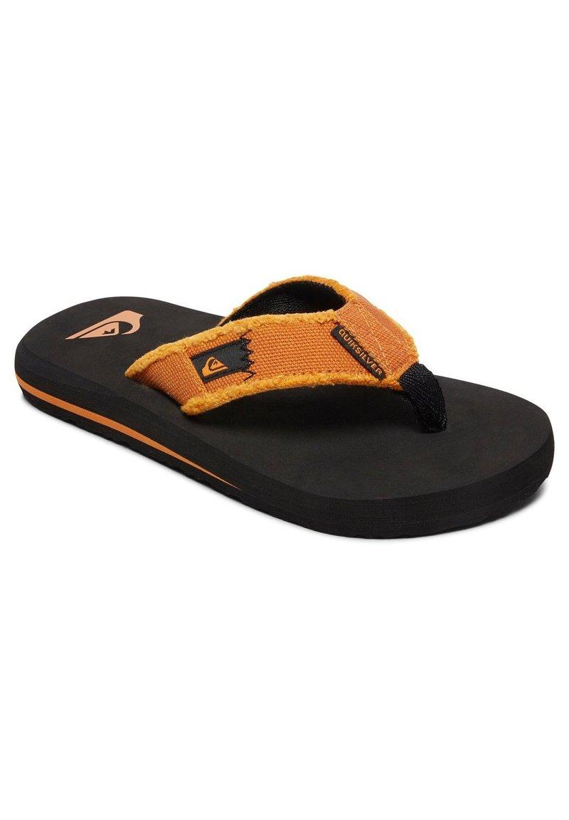 Quiksilver - MONKEY ABYSS YT  - T-bar sandals - black/orange/orange