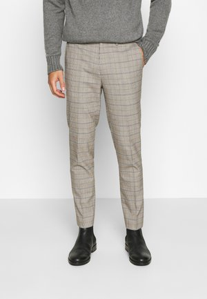 CHECK TROUSERS - Kangashousut - neutral