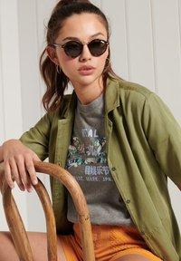 Superdry - VINTAGE LOGO - Print T-shirt - dark marl - 2