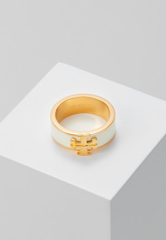 KIRA LOGO RING - Prsten - gold-coloured/new ivory