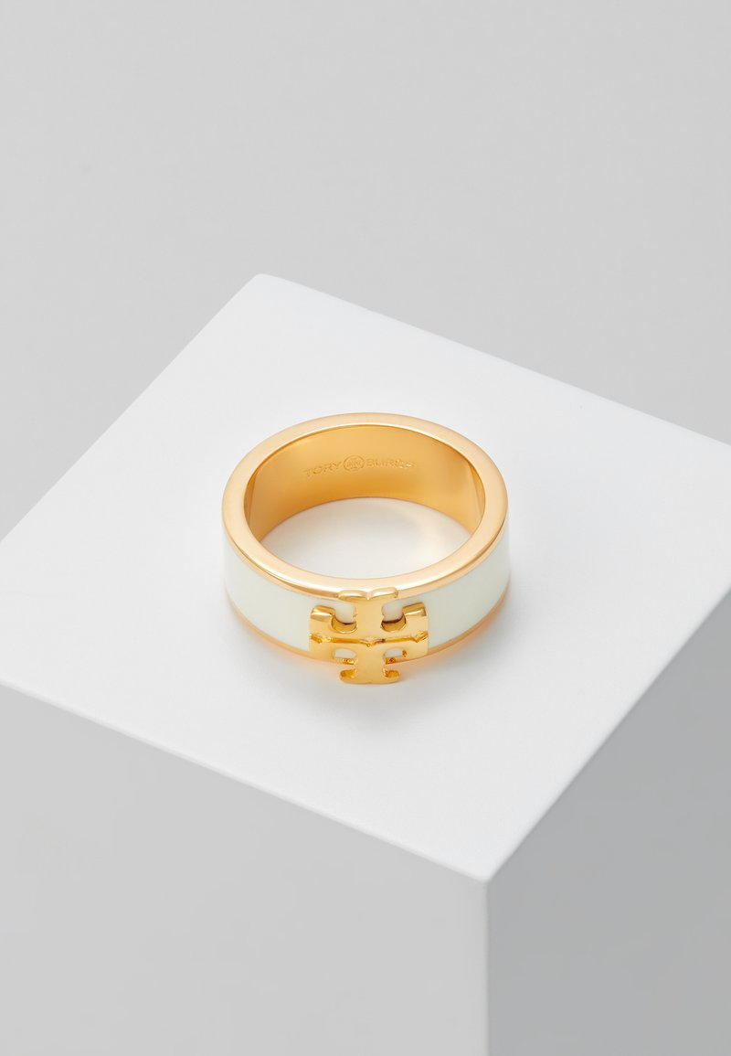 Tory Burch - KIRA LOGO RING - Anello - gold-coloured/new ivory
