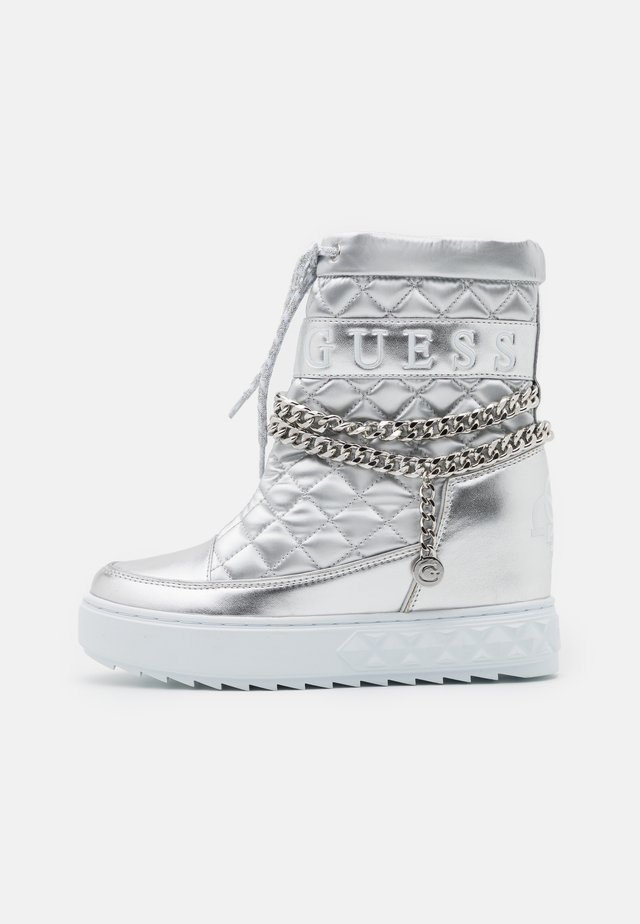 FARIBA - Kotníková obuv na vysokém podpatku - argent