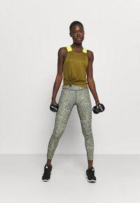 Nike Performance - DRY ELASTIKA TANK - Camiseta de deporte - olive flak/volt - 1