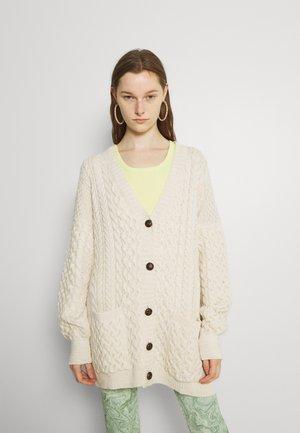 ARRAN CARDIGAN - Cardigan - beige