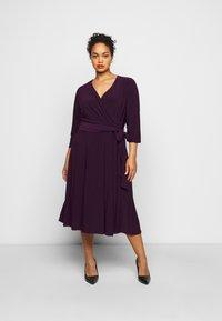 Lauren Ralph Lauren Woman - CARLYNA DAY DRESS - Jersey dress - raisin - 0