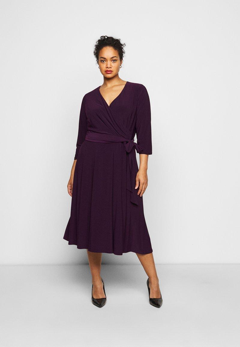 Lauren Ralph Lauren Woman - CARLYNA DAY DRESS - Jersey dress - raisin