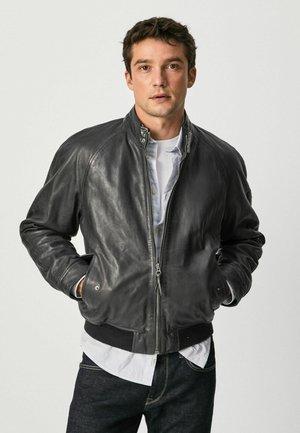 MOSES - Leather jacket - dulwich schwarz