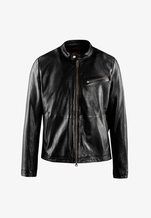IN PELLE THOR   - Leather jacket - black