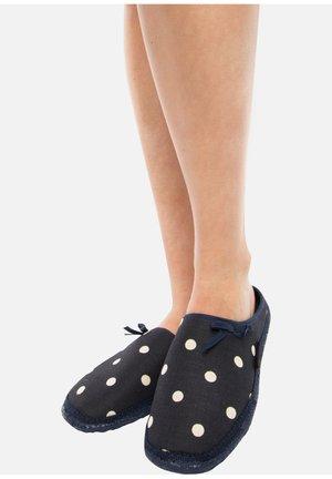 PLEIN - Slippers - dark blue/white