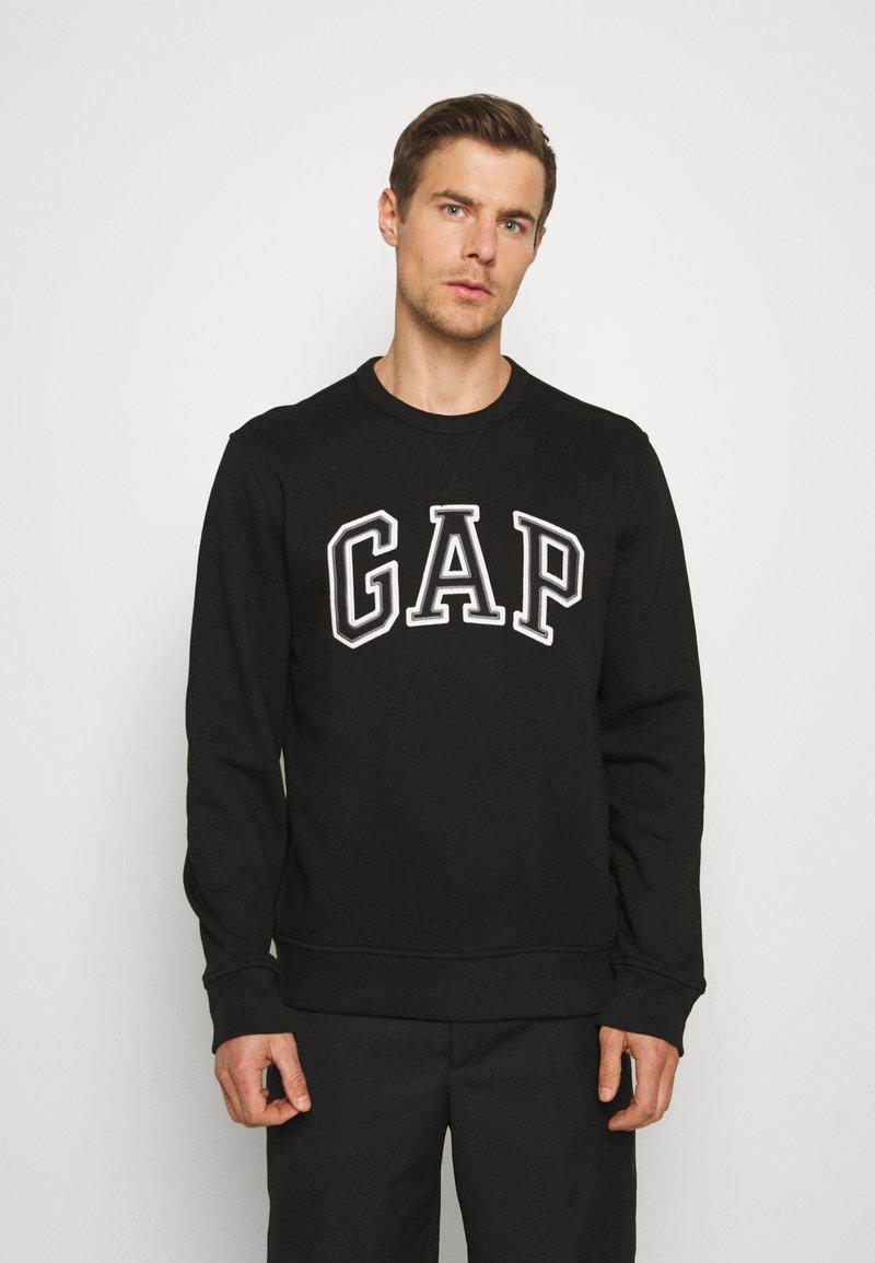 GAP - ARCH CREW - Sweatshirts - black