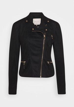 FQBIRDIE-JA-LUX - Faux leather jacket - black