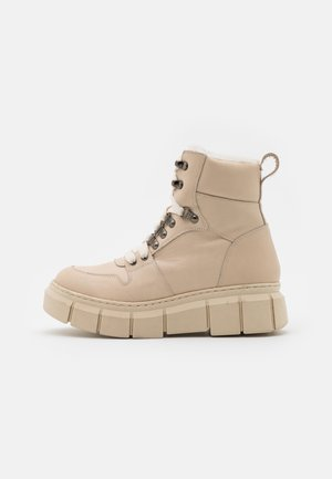 STREET - Platform ankle boots - tamesis ibory/mutton beige