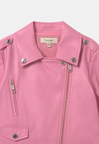 TWINSET - Faux leather jacket - rose bloom - 3