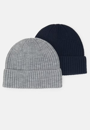 2 PACK - Beanie - light grey/dark blue