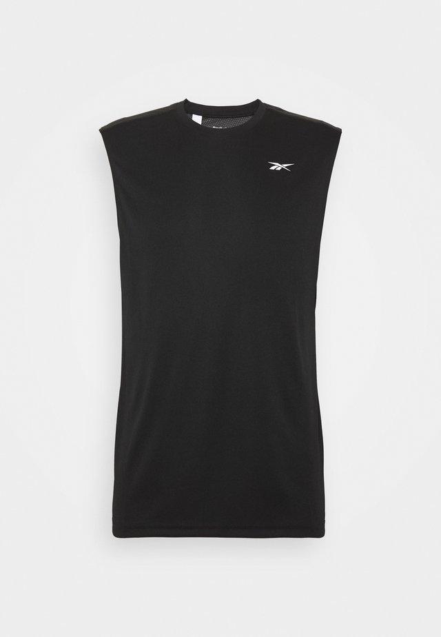 TECH TEE - Treningsskjorter - black