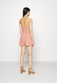 Abercrombie & Fitch - FRONT RUCHED ROMPER  - Mono - red dot - 6