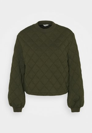 OBJMONI QUILTED  - Sweatshirts - forest night