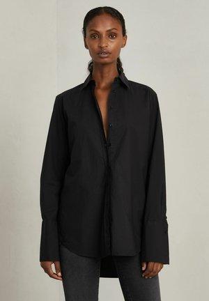 JONES - Button-down blouse - dark evening black