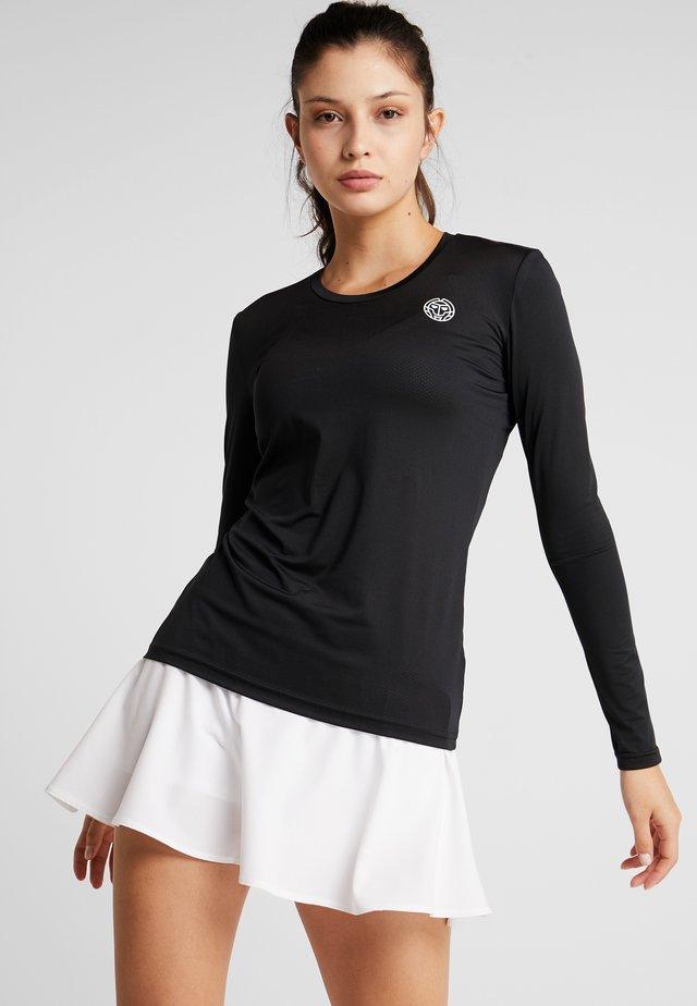 PIA TECH ROUNDNECK LONGSLEEVE - T-shirt à manches longues - black