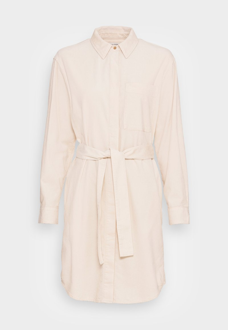 Marc O'Polo - DRESS RELAXED STYLE CHEST POCKET BELTED - Shirt dress - chalky sand