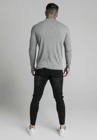 SIKSILK - RIB KNIT TEE - Long sleeved top - grey - 2