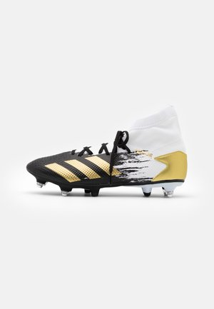 PREDATOR 20.3 FOOTBALL BOOTS SOFT GROUND - Voetbalschoenen met metalen noppen - footwear white/gold metallic/core black