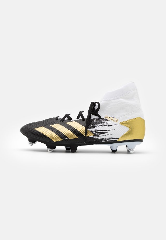 PREDATOR 20.3 FOOTBALL BOOTS SOFT GROUND - Chaussures de foot à lamelles - footwear white/gold metallic/core black