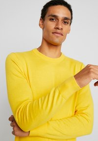 Tommy Hilfiger - PIMA CREW NECK - Stickad tröja - yellow - 3