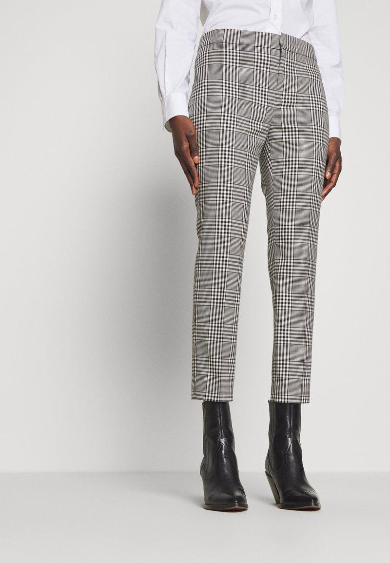 Lauren Ralph Lauren - SUITING PANT - Trousers - black/white