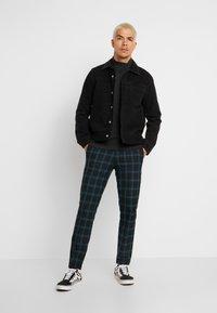 Jack & Jones PREMIUM - JPRSID TROUSER CHECK - Trousers - dark green - 1