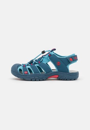 KIDS KVALVIKA UNISEX - Walking sandals - dolphin blue/spicy red
