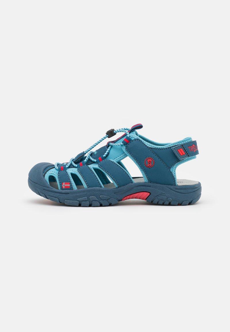 TrollKids - KIDS KVALVIKA UNISEX - Chodecké sandály - dolphin blue/spicy red