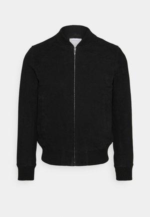 MONACO  - Leather jacket - noir carbone