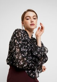 Missguided - DITSY FLORAL PLUNGE TIE BODYSUIT - Blouse - brown - 3