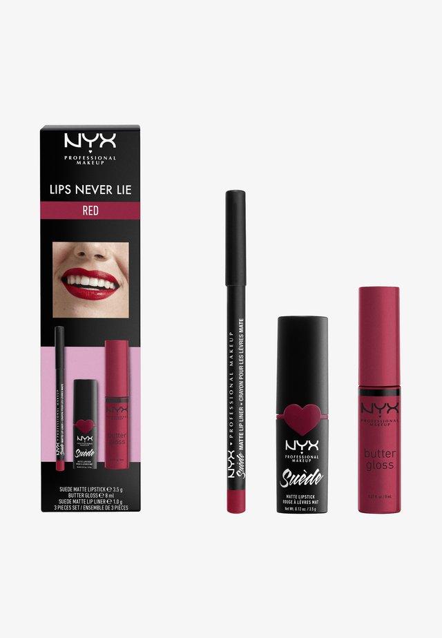 LIPS NEVER LIE SET - Make-up Set - red